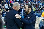 Zinedine Zidane coach of Real Madrid and Jose Bordalas coach of Getafe FC during La Liga match between Getafe CF and Real Madrid at Coliseum Alfonso Perez in Getafe, Spain. January 04, 2020. (ALTERPHOTOS/A. Perez Meca)