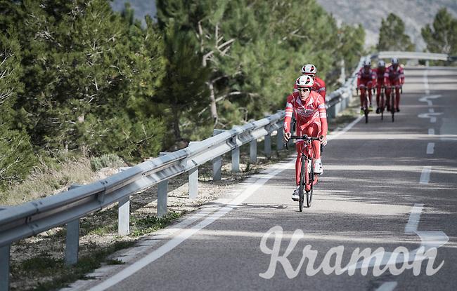 Androni Giocattoli–Siderm preparing for the 2017 season on the Coll de Rates (alt 626m/Alicante/Spain) in january