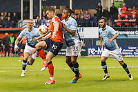 Olly Lee of Luton Town (19) hold up the ball during the Sky Bet League 2 Play Off Semi Final 2 leg match between Luton Town and Blackpool at Kenilworth Road, Luton, England on 18 May 2017. Photo by David Horn.