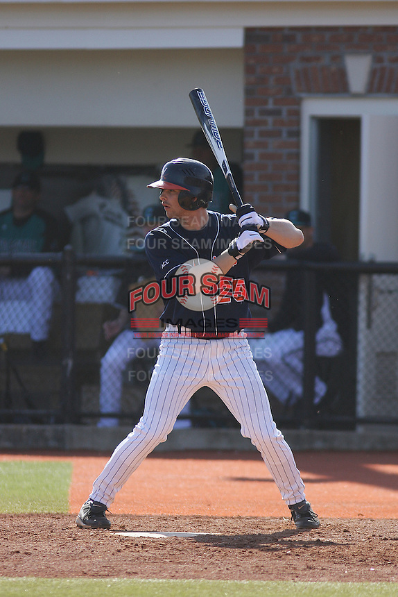 University of Virginia outfielder Reed Gragnani #25 at bat during a game against the Coastal Carolina Chanticleers at Watson Stadium at Vrooman Field on February 18, 2012 in Conway, SC.  Virginia defeated Coastal Carolina 9-3. (Robert Gurganus/Four Seam Images)