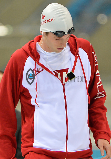 August 04, 2012..Ryan Cochrane arrives to compete in Men's 1500m Freestyle Final at the Aquatics Center on day eight of 2012 Olympic Games in London, United Kingdom.