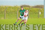 Castlegregory's Stephen Browne and Watervillie's Alan O'Shea.