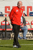 Bridgeview, IL, USA - Saturday, April 23, 2016: Western New York Flash head coach Paul Riley before a regular season National Women's Soccer League match between the Chicago Red Stars and the Western New York Flash at Toyota Park. Chicago won 1-0.