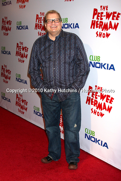 "Drew Carey.arriving at the ""The Pee Wee Herman Show"" Opening Night..Club Nokia.Los Angeles, CA.January 20, 2010.©2010 Kathy Hutchins / Hutchins Photo...."