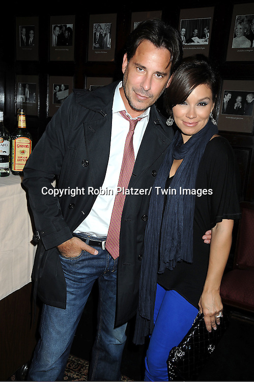 """Gretta Monahan and Ricky Paull Goldin at Susan Lucci's  book signing for her new book """"All My Life""""  at The Friars Club in New York City on September 7, 2011."""