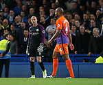 Chelsea's Eden Hazard scores his sides opening goal as Manchester City's Willy Caballero and Vincent Kompany look on dejected during the Premier League match at the Stamford Bridge Stadium, London. Picture date: April 5th, 2017. Pic credit should read: David Klein/Sportimage