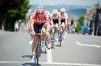 Adam Hansen (AUS/Lotto-Belisol) tries to force a gap with the peloton in the first 10km of the race<br /> <br /> Ster ZLM Tour 2014
