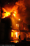 HILLSBOROUGH,TAMPA,3/5/07--FOR METRO SLUGGED: FIRE--Tampa fire battle a blaze in downtown Tampa Monday night. (staff/Jay Nolan)