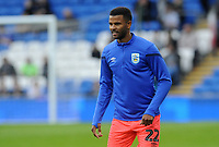 Huddersfield Town's Fraizer Campbell during the pre-match warm-up <br /> <br /> Photographer Ian Cook/CameraSport<br /> <br /> The EFL Sky Bet Championship - Cardiff City v Huddersfield Town - Wednesday August 21st 2019 - Cardiff City Stadium - Cardiff<br /> <br /> World Copyright © 2019 CameraSport. All rights reserved. 43 Linden Ave. Countesthorpe. Leicester. England. LE8 5PG - Tel: +44 (0) 116 277 4147 - admin@camerasport.com - www.camerasport.com