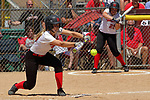 02 June 2017:  D'Laney Gardner Goreville Blackcats v Heyworth Hornets class 1A IHSA Class 1A Softball Semi-Final at Eastside Centre in East Peoria Illinois