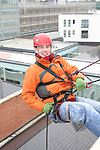 Robert Cassidy who abseiled off the roof of the D Hotel to raise money for Drogheda Animal Rescue...Picture Jenny Matthews/Newsfile.ie