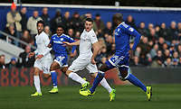 Queens Park Rangers' Conor Washington attempts a back flick<br /> <br /> Photographer /Rob NewellCameraSport<br /> <br /> The EFL Sky Bet Championship - Queens Park Rangers v Cardiff City - Saturday 4th March 2017 - Loftus Road - London<br /> <br /> World Copyright &copy; 2017 CameraSport. All rights reserved. 43 Linden Ave. Countesthorpe. Leicester. England. LE8 5PG - Tel: +44 (0) 116 277 4147 - admin@camerasport.com - www.camerasport.com