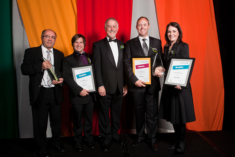 2010 Premiers Food Awards Dinner. Innovate SA Visionary Leader, Industry / Young, Taz Mitani (Industry Winner), Cole Thomas(finalist),   Greg Boundy, Sam Tucker (Winner  Young Leader), Victoria McClurg (Finalist)