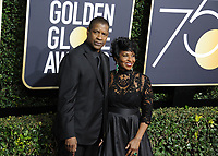 www.acepixs.com<br /> <br /> January 7 2018, LA<br /> <br /> Denzel Washington and Pauletta Washington arriving at the 75th Annual Golden Globe Awards at The Beverly Hilton Hotel on January 7, 2018 in Beverly Hills, California.<br /> <br /> By Line: Peter West/ACE Pictures<br /> <br /> <br /> ACE Pictures Inc<br /> Tel: 6467670430<br /> Email: info@acepixs.com<br /> www.acepixs.com