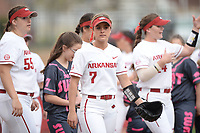 NWA Democrat-Gazette/ANDY SHUPE<br /> Arkansas Kentucky Friday, March 29, 2019, during the inning at Bogle Park in Fayetteville. Visit nwadg.com/photos to see more photographs from the game.