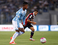 Calcio, Serie A: Lazio vs Bologna. Roma, stadio Olimpico, 22 agosto 2015.<br /> Lazio&rsquo;s Keita Diao in action during the Italian Serie A football match between Lazio and Bologna at Rome's Olympic stadium, 22 August 2015.<br /> UPDATE IMAGES PRESS/Isabella Bonotto