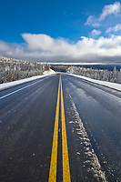 Paved section of the James Dalton Highway, Alaska.