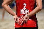 04.01.2019, Den Haag, Sportcampus Zuiderpark<br />Beachvolleyball, FIVB World Tour, 2019 DELA Beach Open<br /><br />Feature Handzeichen Christian Sorum (#2 NOR)<br /><br />  Foto &copy; nordphoto / Kurth