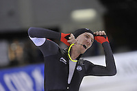 SPEED SKATING: SALT LAKE CITY: 21-11-2015, Utah Olympic Oval, ISU World Cup, 10.000m Men, Ted-Jan Bloemen (CAN), World Record: 12.36,30, ©foto Martin de Jong
