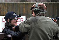 Clay pigeon shooting session with London Wasps Media team revives instructions from one of the dedicated team of professional instructors, incorporating some of the most experienced and committed game shots as well as world class competitive clay shots at E.J.Churchill Shooting Ground, Park Lane, Lane End, High Wycombe, Buckinghamshire, England on December 20, 2012.