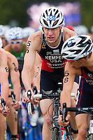 07 AUG 2011 - LONDON, GBR - Hunter Kemper (USA) - men's round of triathlon's ITU World Championship Series .(PHOTO (C) NIGEL FARROW)