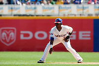 7 March 2009:  #2 Hanley Ramirez of the Dominican Republic prepares to steal second base during the 2009 World Baseball Classic Pool D match at Hiram Bithorn Stadium in San Juan, Puerto Rico. Netherlands pulled off a huge upset in their World Baseball Classic opener with a 3-2 victory over Dominican Republic.