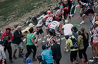Alberto Contador (ESP/Trek-Segafredo) up the highest point in the 2017 TdF: The Galibier (HC/2642m/17.7km/6.9%)<br /> <br /> 104th Tour de France 2017<br /> Stage 17 - La Mure &rsaquo; Serre-Chevalier (183km)
