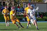 Rancho Santa Margarita, CA 04/30/10 - Kyle Spierkel (Santa Margarita #12) and Willy Mort (Torrey Pines #3) in action during the Rancho Santa Margarita CHS-Torrey Pines boys varsity lacrosse game.