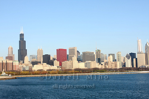 Nov. 08, 2008; Chicago, IL - Downtown Chicago Skyline..Photo credit: Darrell Miho