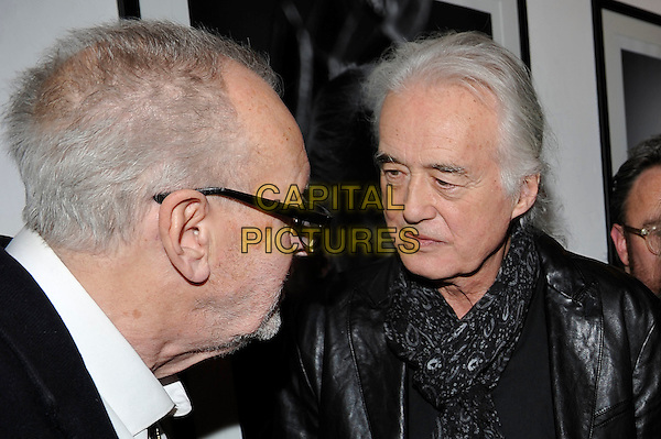LONDON, ENGLAND - NOVEMBER 25: 'Legs' Larry Smith and Jimmy Page attending the 'Resonators' book launch at Proud Gallery, Camden on November 25, 2015 in London, England.<br /> CAP/MAR<br /> &copy; Martin Harris/Capital Pictures