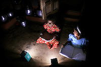 Thanks to solar lanterns, six year old Timo and her friends can now study after dark and do not have to use dangerous kerosene lamps. The Orissa Tribal Empowerment and Livelihoods Programme (OTELP) is an organisation funded by DFID (Department for International Development) and run with the state government of Orissa. The project took four women from the remote tribal village of Tinginapu and trained them in Solar Powered Engineering, and installed Solar lighting in their village which had not seen electricity for over 15 years. The Orissa Tribal Women's Barefoot Solar Engineers Association has now got a contract to build 3,000 solar-powered lanterns for schools and other institutions and is training other people in the community.