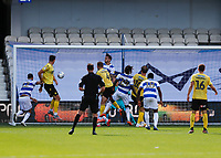 18th July 2020; The Kiyan Prince Foundation Stadium, London, England; English Championship Football, Queen Park Rangers versus Millwall; Shaun Hutchinson of Millwall scores with a header from a cross was to be disallowed by Referee James Linington