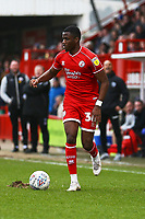 Beryly Lubala of Crawley Town during Crawley Town vs Oldham Athletic, Sky Bet EFL League 2 Football at Broadfield Stadium on 7th March 2020