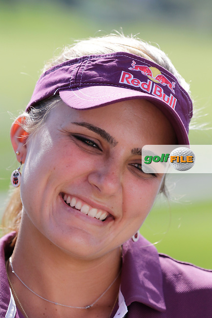 Lexi Thompson (USA) during Wednesday's Pro-Am of the LPGA 2015 Evian Championship, Evian les Bains, France. 09/09/2015.<br /> Picture Eoin Clarke | Golffile