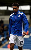 Colchester United's Mikael Mandron warming up<br /> <br /> Photographer Hannah Fountain/CameraSport<br /> <br /> The EFL Sky Bet League Two - Colchester United v Mansfield Town - Saturday 7th October 2017 - Colchester Community Stadium - Colchester<br /> <br /> World Copyright &copy; 2017 CameraSport. All rights reserved. 43 Linden Ave. Countesthorpe. Leicester. England. LE8 5PG - Tel: +44 (0) 116 277 4147 - admin@camerasport.com - www.camerasport.com