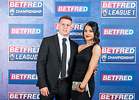 Picture by Allan McKenzie/SWpix.com - 25/09/2018 - Rugby League - Betfred Championship & League 1 Awards Dinner 2018 - The Principal Manchester- Manchester, England - Red carpet, Matt Costello.