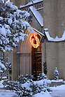 Basilica main door at Christmas
