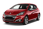 2016 Peugeot 208 GTI 3 Door Hatchback 2WD Angular Front stock photos of front three quarter view