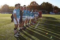 A minute silence before the Championship Cup match between Ealing Trailfinders and Jersey at Castle Bar , West Ealing , England  on 11 November 2018. Photo by Harry Hubbard/PRiME Media Images