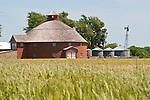 Historic masonry round barn at Pond Creek, Okla.