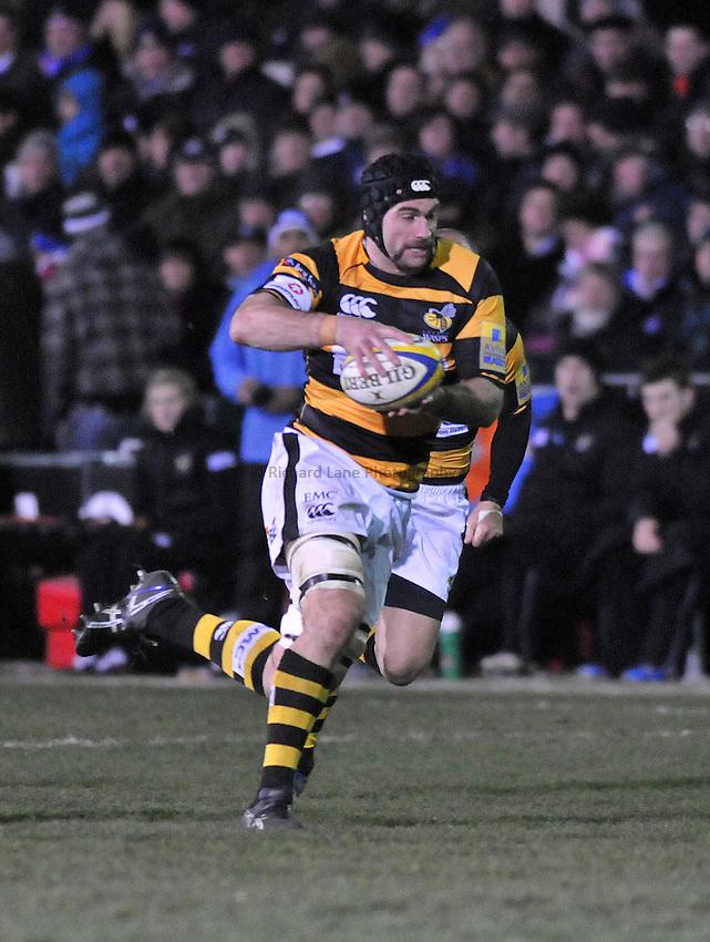 Photo: Tony Oudot/Richard Lane Photography. Bath Rugby v London Wasps. Aviva Premiership. 27/11/2010. .Marty Veale of Wasps.