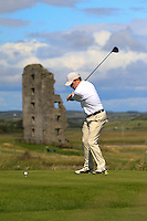 Thomas Neenan (Lahinch) on the 13th tee during Round 2 of The South of Ireland in Lahinch Golf Club on Sunday 27th July 2014.<br /> Picture:  Thos Caffrey / www.golffile.ie