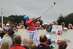 Johan Edfors teeing off on the second on the final day of the 3 Irish Open, at the Killarney Golf and Fishing Club, Killarney, Ireland.Picture Fran Caffrey/www.golffile.ie.