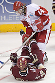 Tom Gilbert, Brian Boyle - The University of Wisconsin Badgers defeated the Boston College Eagles 2-1 on Saturday, April 8, 2006, at the Bradley Center in Milwaukee, Wisconsin in the 2006 Frozen Four Final to take the national Title.