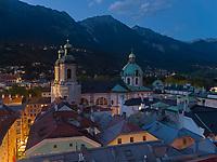 Dom St. Jakob, Blick von Stadtturm, Innsbruck, Tirol, &Ouml;sterreich, Europa<br /> Cathedral St. Jakob , Herzog-Friedrich St. , Innsbruck, Tyrol, Austria, Europe