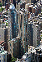 aerial photograph upper east side residential towers, Manhattan, New York City