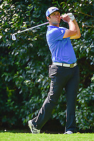 Jon Rahm (ESP) watches his tee shot on 2 during round 1 of the World Golf Championships, Mexico, Club De Golf Chapultepec, Mexico City, Mexico. 3/2/2017.<br /> Picture: Golffile | Ken Murray<br /> <br /> <br /> All photo usage must carry mandatory copyright credit (&copy; Golffile | Ken Murray)