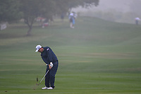 Padraig Harrington (IRL) hits his approach shot on 18 during day 3 of the Valero Texas Open, at the TPC San Antonio Oaks Course, San Antonio, Texas, USA. 4/6/2019.<br /> Picture: Golffile | Ken Murray<br /> <br /> <br /> All photo usage must carry mandatory copyright credit (&copy; Golffile | Ken Murray)