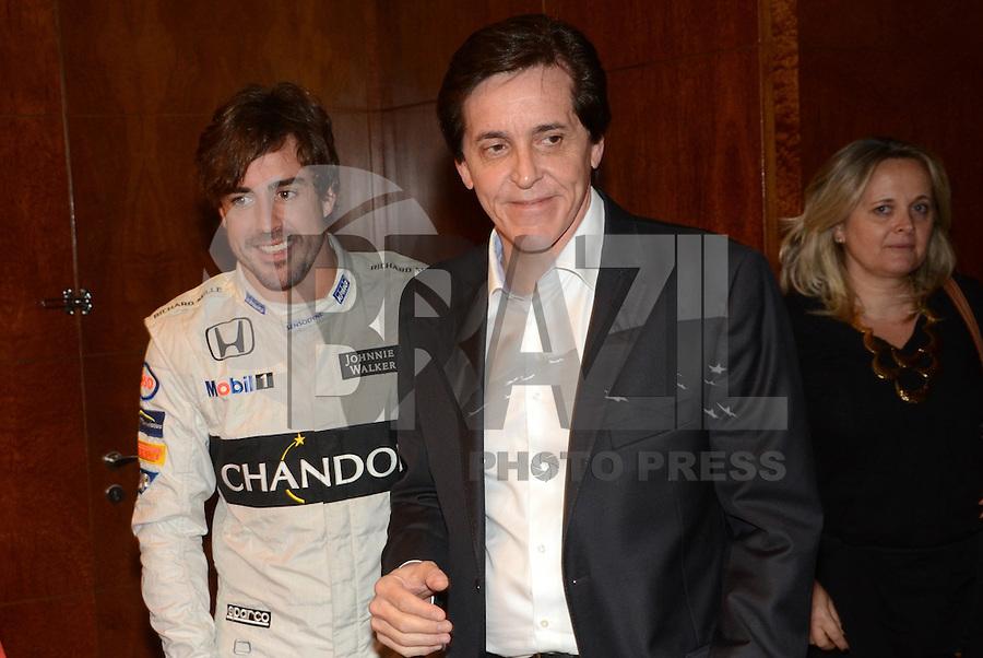SÃO PAULO - 10.11.2016 - GP-BRASIL -O piloto espanhol Fernando Alonso durante evento de um dos seus patrocinadores na Hotel Hilton na região sul de São Paulo na noite desta quinta-feira, 10 . (Foto: Eduardo Martins / Brazil Photo Press)