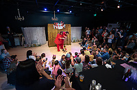 Opening Reception: Bob's Petite Theatre in the new Oxy Arts community art center in Highland Park, located on the corner of York Blvd. and Armadale Ave. (4757 York Blvd.) photographed on May 28, 2019. The exhibit features work from the Bob Baker Marionette Theater and Compass Rose.<br /> (Photo by Marc Campos, Occidental College Photographer)
